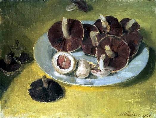 William Nicholson, Plate of Mushrooms
